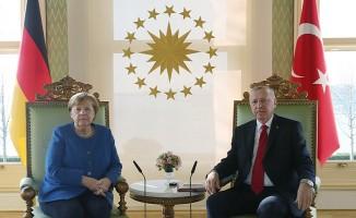 Başkan Erdoğan ve Merkel'den ortak açıklama