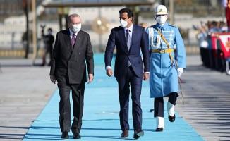 Katar Emiri Şeyh Temim Cumhurbaşkanlığı Külliyesinde