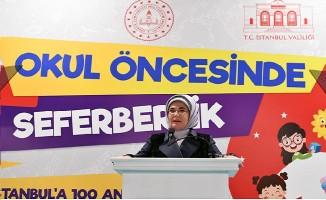 Emine Erdoğan, İstanbul'da okul öncesi eğitim seferberliği başlattı