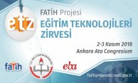 FATİH Projesi Eğitim Teknolojileri Zirvesi 2-3 Kasım'da