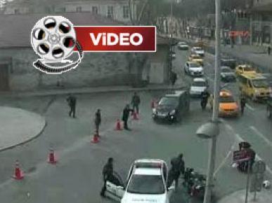 Ticari taksi polisleri böyle biçti!