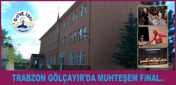 Trabzon Gölçayır'da muhteşem final..