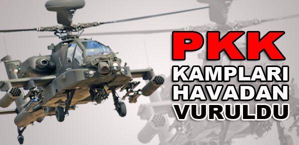 TSK: PKK kampları havadan vuruldu
