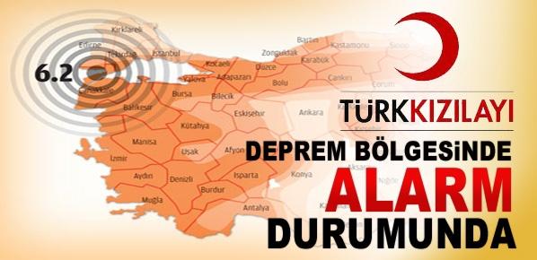 Türk Kızılayı, alarm durumuna geçti